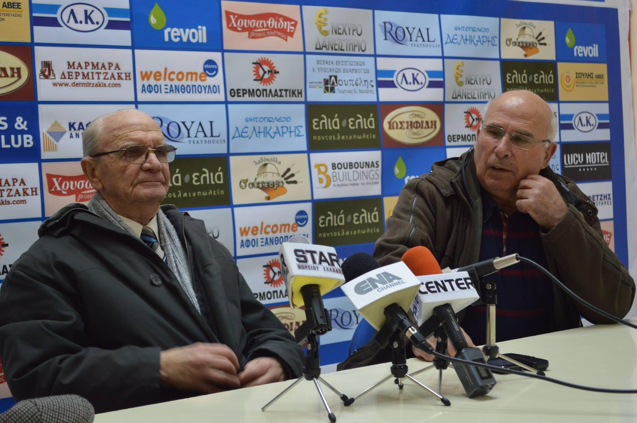 Οι Παύλος Κούντουρας και Σταμάτης Χρυσαφίδης έκαναν έκκληση στους Καβαλιώτες φιλάθλους να στηρίξουν τον Α.Ο.Κ. μέχρι το τέλος για κάνει πράξη το όνειρο της ανόδου στην Football League.