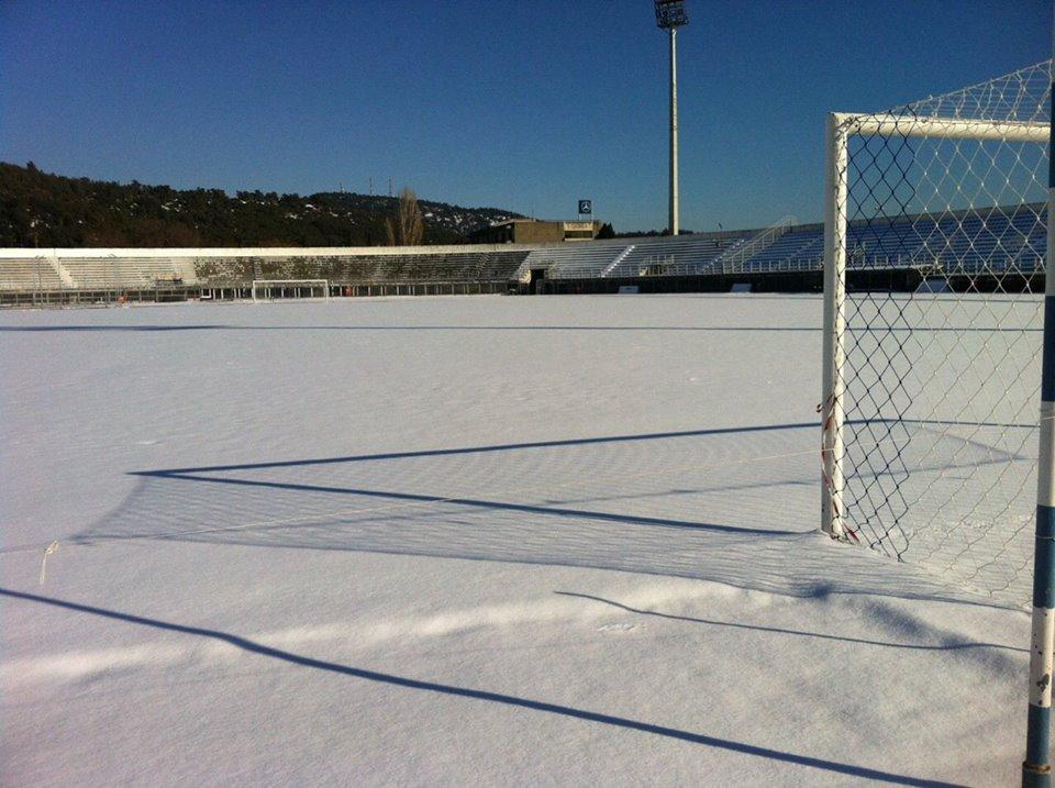 """Ακατάλληλο λόγω χιονιού είναι το """"Ανθή Καραγιάννη"""" για το ματς Α.Ο.Κ.-Καμπανιακός την Κυριακή (15/1)"""