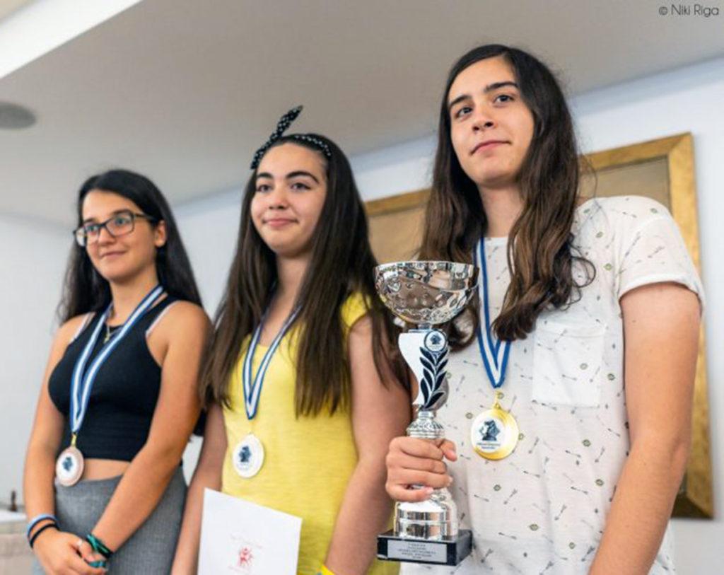 2η θέση για την Μιχαηλίδου στο Πανελλήνιο Πρωτάθλημα Παίδων και Κορασίδων σκακιού