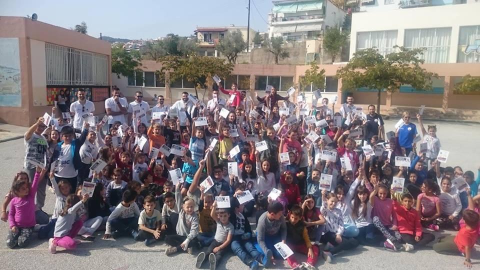 Επίσκεψη της ENERGEAN KAVALA BC στο 18ο Δημοτικό σχολείο και στην προπόνηση της το 12ο Δημοτικό