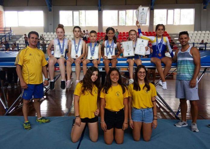 Πολλά μετάλλια για τους θλητές του ΑΟ Παλμός στο πρωτάθλημα τραμπολίνο