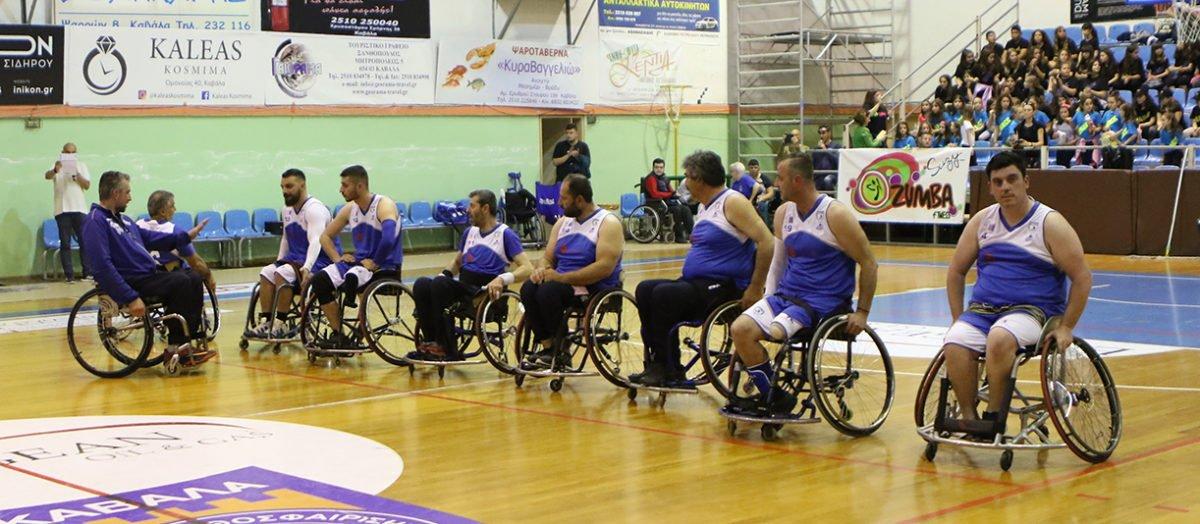 Νίκη με διαφορά 7 πόντων κόντρα θέλει η ομάδα μπάσκετ με αμαξίδια του Α.Ο.Κ.