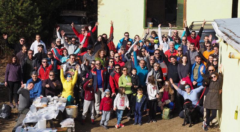 Πλήθος κόσμου στην κοπή της πίτας του Ελληνικού Ορειβατικού Συλλόγου  Καβάλας
